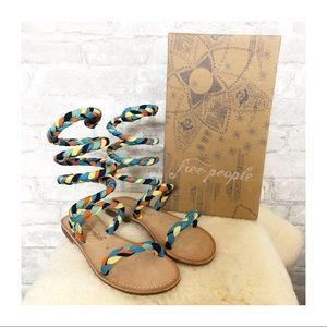 FREE PEOPLE 🆕Havana Gladiator Sandal Multi Braid
